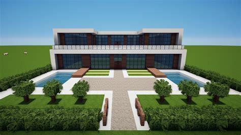 Modernes Haus Minecraft Jannis Gerzen by Minecraft Gro 223 Es Modernes Haus Mit Wasserfallbauen