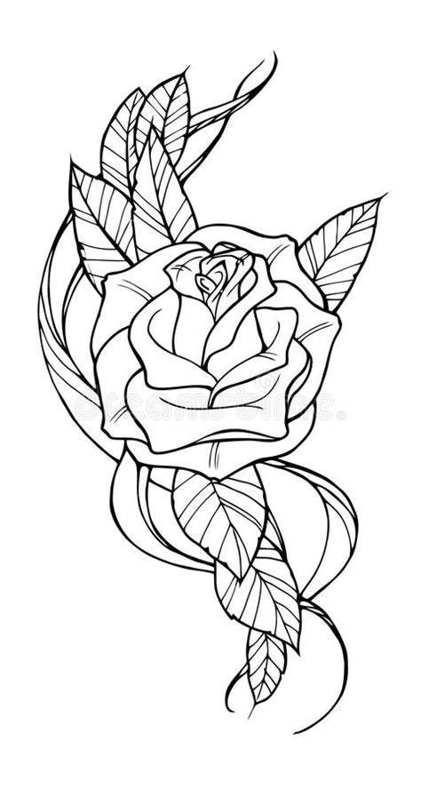 Rose tattoo stock vector. Illustration of images, beauty - 58373510