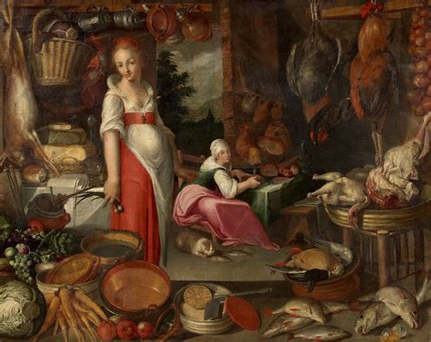 17th century cuisine 16th century kitchen with cook and unknown the