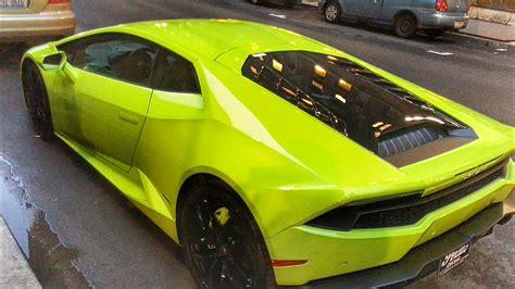 Lamborghini Lime Green On The Street Youtube