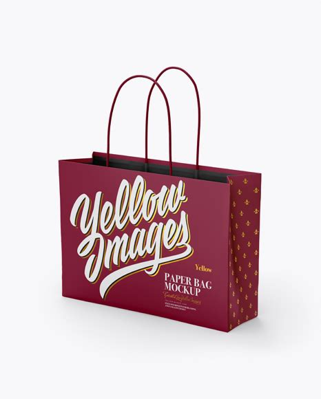 Smart layer helps to apply your design. Matte Paper Bag Mockup - Half Side View PSD Template ...