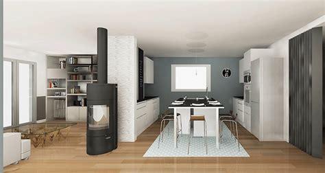 ouverture entre cuisine et salle à manger cuisine ouverte sur salon et carreau ciment conception