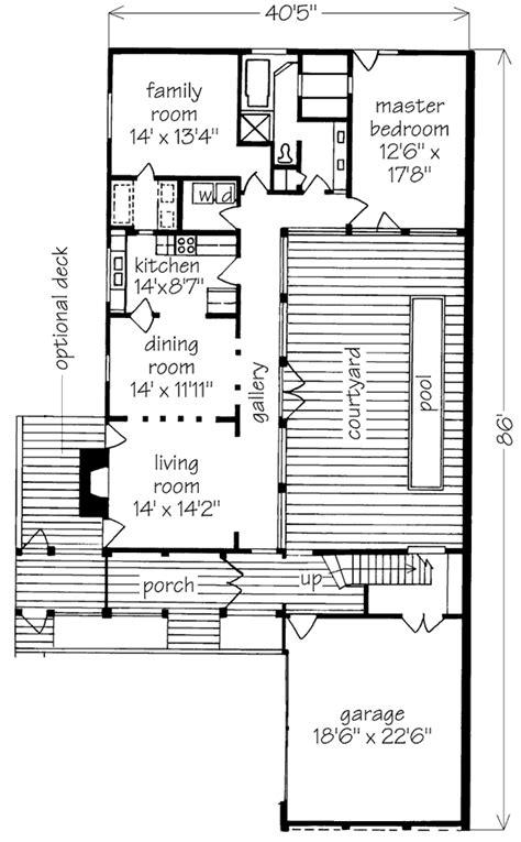courtyard cottage jim phaffman southern living house plans