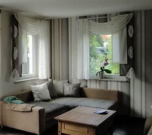 Vorhänge Große Fenster : wohnzimmer gardine muster ~ Sanjose-hotels-ca.com Haus und Dekorationen