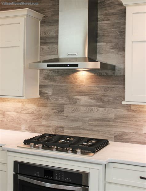 gray backsplash kitchen porcelain floor tile with a gray woodgrain pattern is