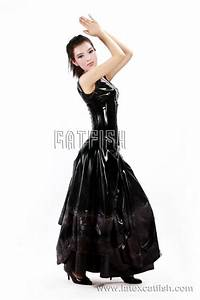 100 natural latex wedding dress photo detailed about 100 With latex wedding dress
