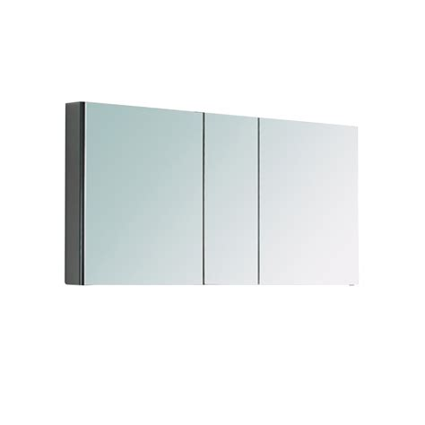 three mirrored door medicine cabinet uvfmc8013