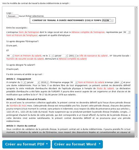 contrat cadre en anglais mod 232 le de contrat de travail