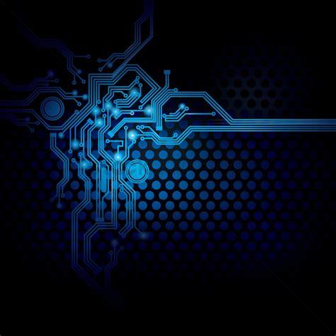 digital designs for circuit design on digital background vector image