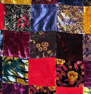 colorful velvet patchwork quilt top fabric classic