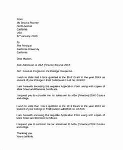 college admission letter