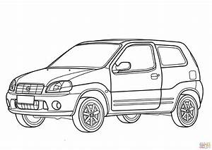 suzuki ignis coloring page free printable coloring pages With suzuki swift car