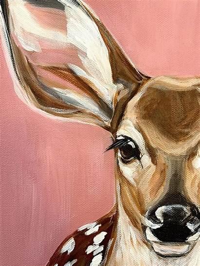 Acrylic Giraffe Painting Paintings Animal Canvas Cutest