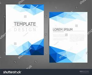 Blue Polygonal Brochure Template Flyer Background Lager ...