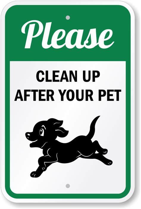 clean    pet sign puppy running