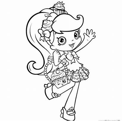 Shopkins Coloring Shoppies Jessicake Pages Printable
