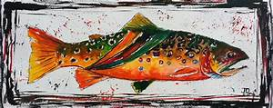 A Year On The Fly: Abstract Trout Watercolor