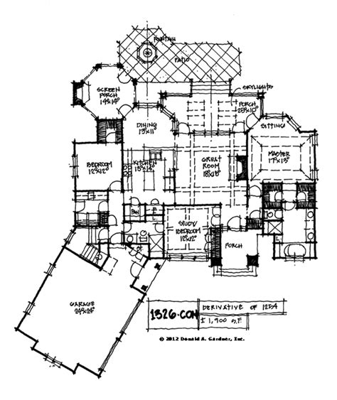 sf don gardner love  garage placement custom home plans house floor plans