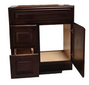 30 inch all wood cherry red bathroom vanity 2 left