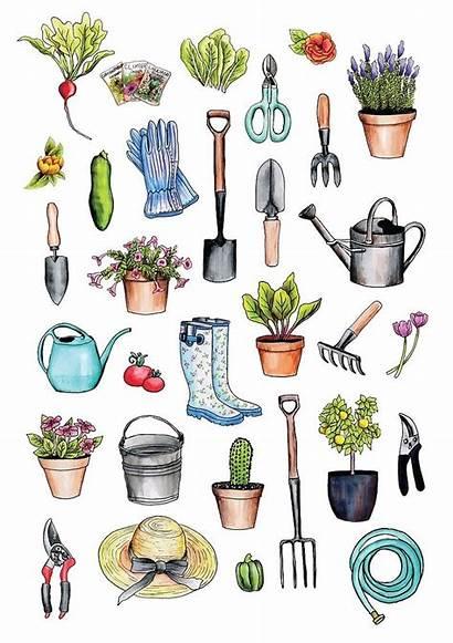Tools Garden Gardening Supplies Spring Gear Clipart