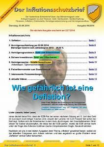 Was Ist Deflation : inflationsschutzbrief ausgabe 6 2014 wie gef hrlich ist eine deflation ~ Frokenaadalensverden.com Haus und Dekorationen