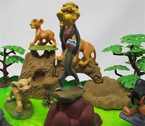 lion king birthday cake topper set featuring mufassa zazu