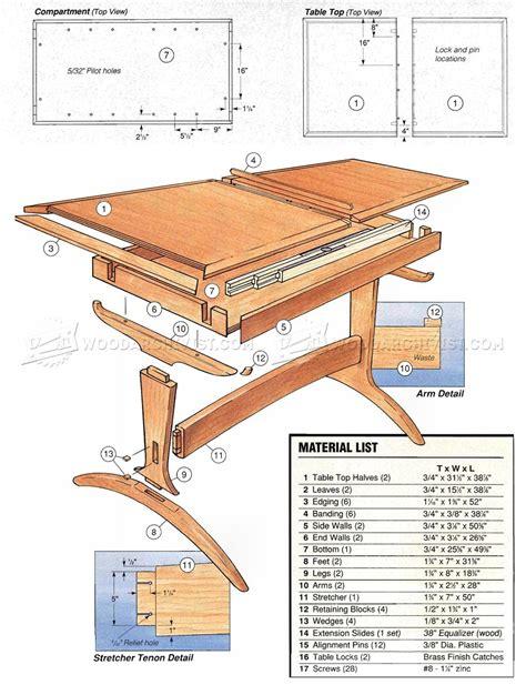 dining room table plans woodarchivist