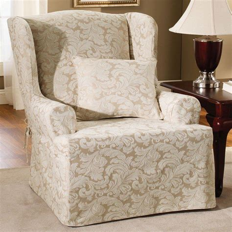 pottery barn chair slipcovers wingback chair slipcovers pottery barn the clayton
