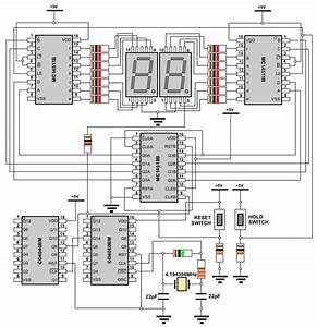 Electrical And Electronics Engineering  Digital Stopwatch Circuit Diagram