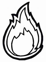 Fire Coloring sketch template