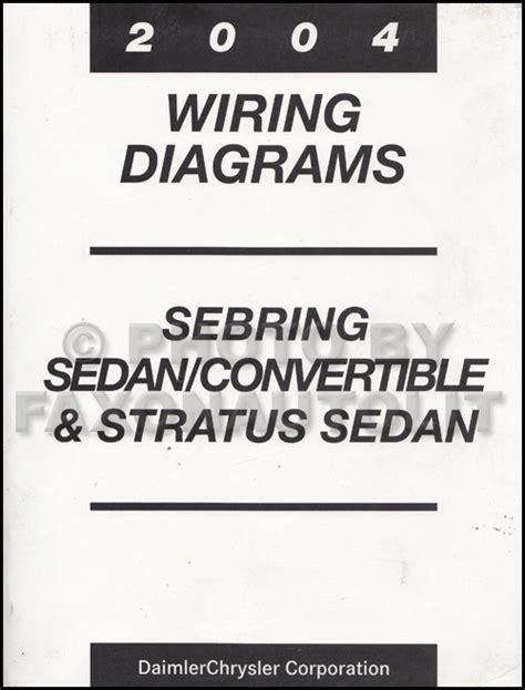 Chrysler Sebring Wiring Diagram 2004 by 2004 Mopar Stratus Sebring Sedan Covertible Wiring Diagram