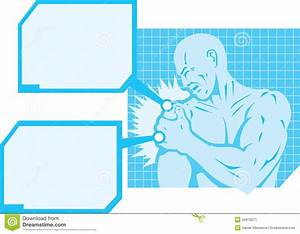 Shoulder Pain Diagram Stock Image