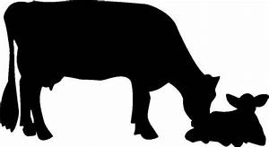 Cow Calf Silhouette At Getdrawingscom Free For Personal