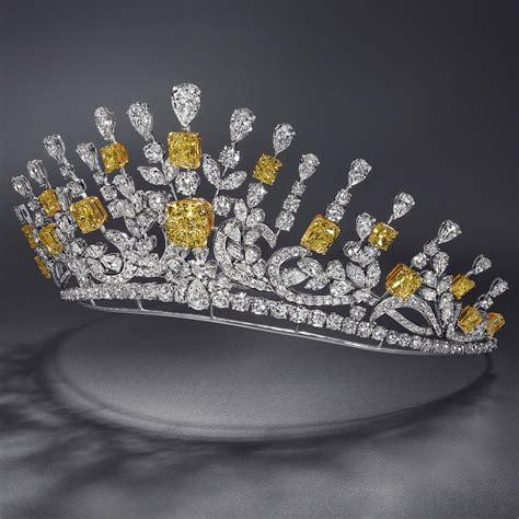 yellow white diamond tiara  graff  diamonds