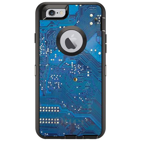 Otterbox Defender For Iphone Plus Blue Circuit
