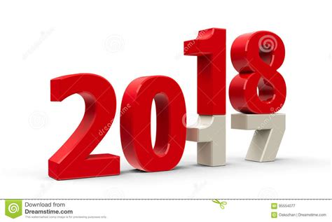 2017-2018 2 Stock Illustration. Illustration Of Countdown