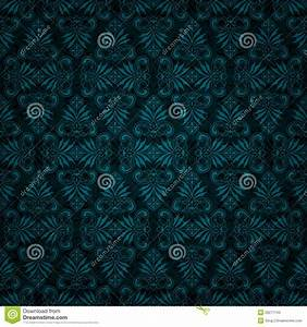 Seamless Dark Blue Tile Vintage Wallpaper Design Stock ...