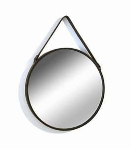 Miroir Rond Suspendu : miroir mural porte bijoux en laiton suspendre ~ Teatrodelosmanantiales.com Idées de Décoration