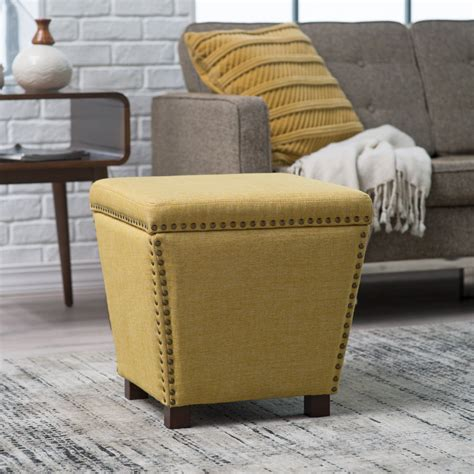 Who Are Ottomans by Belham Living Noelle Storage Ottoman With Nailheads