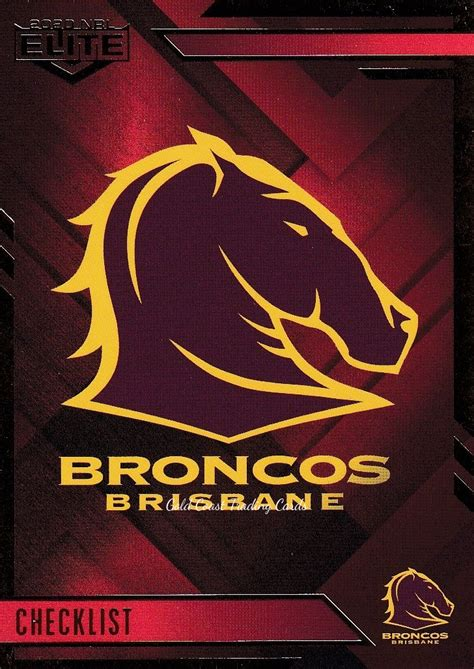 Is one of the png about free brisbane broncos png. 2020 NRL Elite Ruby Mojo - MR001 Logo Checklist Brisbane Broncos - Gold Coast Trading Cards