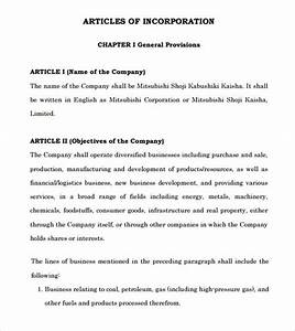 sample articles of incorporation 8 documents in pdf With articles of partnership template