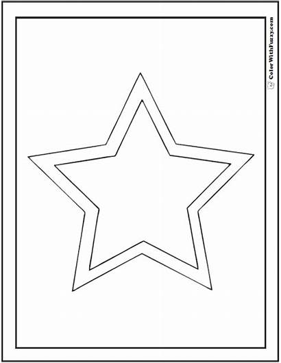 Star Coloring Shape Double Pages Shapes Circles