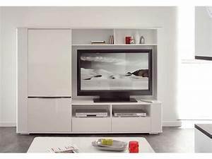 Meuble Blanc Pas Cher : meuble tv coloris blanc meuble tv pas cher conforama ~ Dailycaller-alerts.com Idées de Décoration