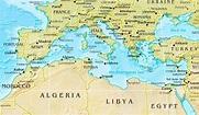 Mediterranean Sea physical map