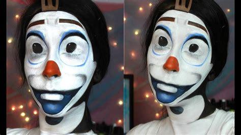 disney frozen olaf  snowman face paint tutorial youtube