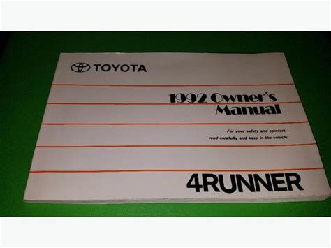 toyota runner owners manual west shore langford