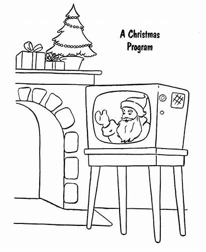 Christmas Coloring Tv Shopping Pages Theme Sheets
