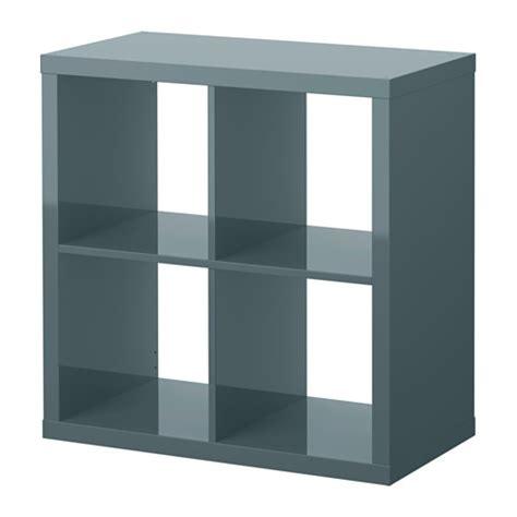 bureau ikea expedit kallax shelf unit high gloss gray turquoise ikea