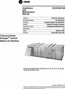Trane X39640516 01 T Series Climate Changer  U00ae Central