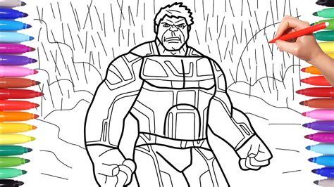 avengers endgame hulk suit avengers  endgame coloring